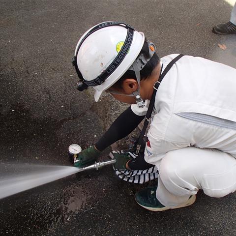 消火栓放水中